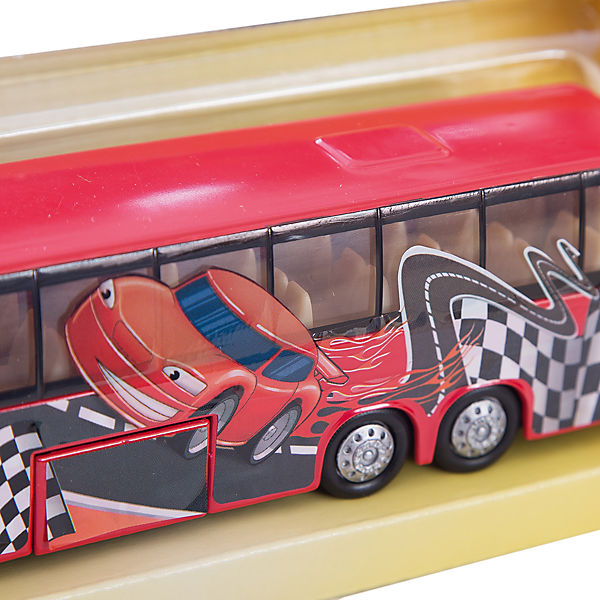 """Автобус """"Гонка"""", 1:32, со светом и звуком, Пламенный мотор"""