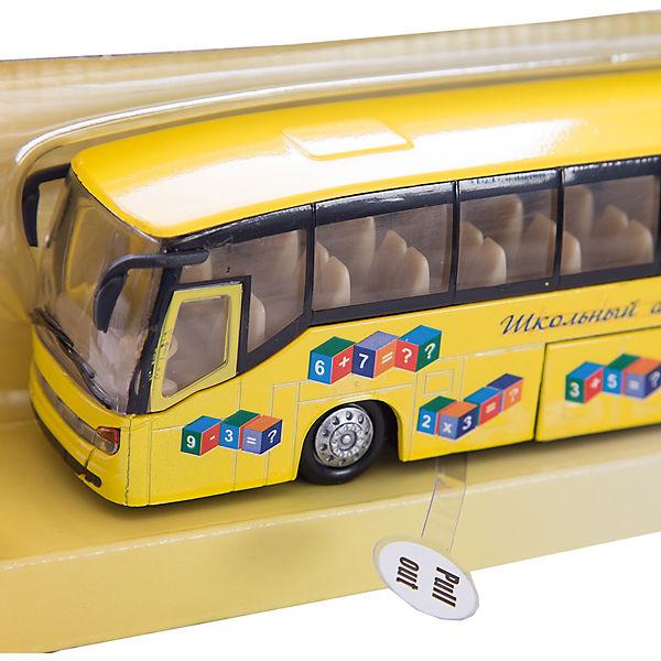 Школьный автобус, 1:32, со светом и звуком, Пламенный мотор