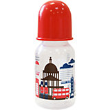 """Бутылочка с соской """"Я люблю"""" от 0 мес., 125-130 мл., LUBBY, красный"""