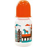 """Бутылочка с соской """"Я люблю"""" от 0 мес., 125-130 мл., LUBBY, оранжевый"""