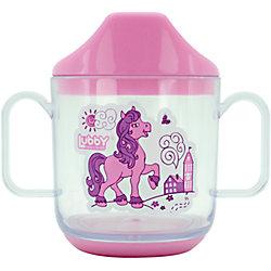 """Кружка-поильник """"Веселые животные"""" от 6 мес. 150 мл., LUBBY, розовый"""