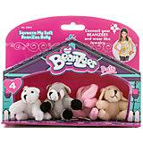"Мини-плюш в наборе ""Медведь, Енот, Кролик, Песик"", Beanzeez"