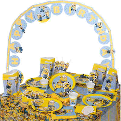 Partyset Lovely Minions, 56-tlg.