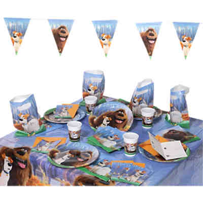 Partyset Secret Life of Pets, 50-tlg.