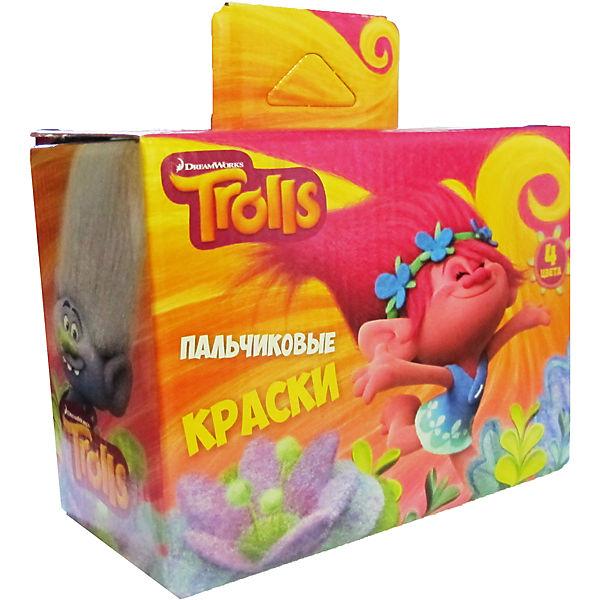 """Набор пальчиковых красок """"Тролли"""", 4 цвета * 40 мл."""