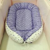 Подушка-гнездо для малыша Babynest, byTwinz,  фиолетовый горошек