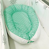Подушка-гнездо для малыша Babynest, byTwinz, зеленый горошек