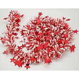 Новогодняя мишура, красная с белым 10х200