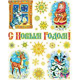 """Новогодняя наклейка из ПВХ, 30х38см, """"Морозко"""""""