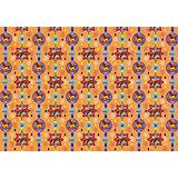 """Новогодняя упаковочная бумага в рулонах """"Деревянные игрушки"""", полноцветные 100x70см"""