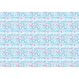 """Новогодняя упаковочная бумага в рулонах """"Розовые снежинки"""", полноцветная 100x70см"""