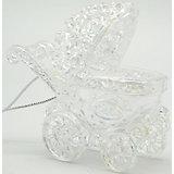 Подвесное украшение из пластика Жемчужная коляска (0,105Х0,105Х0,046м)