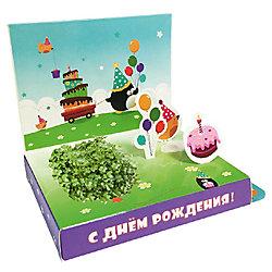 """Подарочный набор для выращивания """"С Днем рождения"""" - Пингвин Happy Plant"""