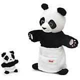 Мягкая игрушка на руку Панда с детенышем, 28 см, Trudi