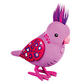 Интерактивная птичка, розовая с драгоценными камушками на крыльях, Little Live Pets