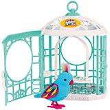 Интерактивная птичка в клетке, голубая, Little Live Pets