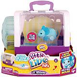 Интерактивная мышка в домике, голубая, Little Live Pets