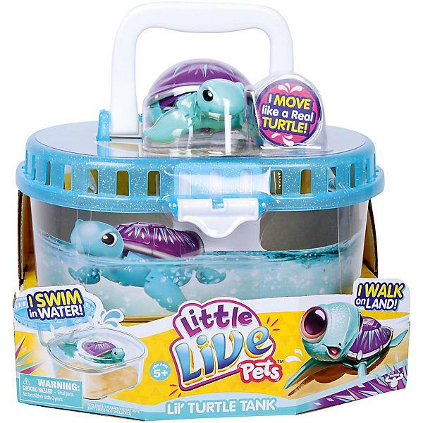 Интерактивная черепашка в аквариуме, 3-я серия, Little Live Pets
