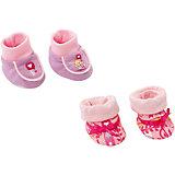 Мягкие ботинки, розовые, BABY born