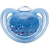 Пустышка силиконовая для сна FREESTYLE, 18-36 мес., NUK, светло-синий