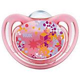 Пустышка силиконовая для сна FREESTYLE Узоры, 18-36 мес., NUK, розовый