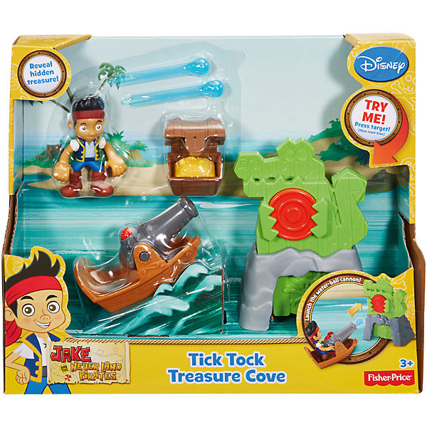 Игровой набор, Fisher Price, Джейк и пираты Нетландии. Сокровища крокодила Тик-Така