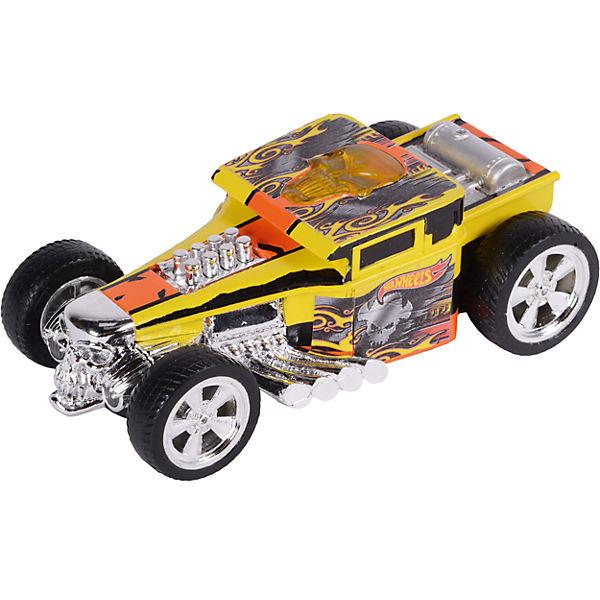 Машина Freeway Flyer - Bone Shaker (свет), желтая, 14 см, Hot Wheels