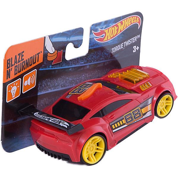 Машинка красная (свет, звук), 13 см, Hot Wheels