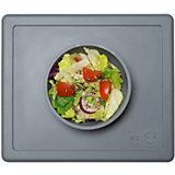 Тарелка глубокая с подставкой Happy Bowl, 240 мл., ezpz, серый