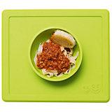 Тарелка с подставкой Happy Bowl, ezpz, зеленый