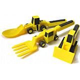 Набор из трех столовых приборов Строительная серия, Constructive Eating, желтый