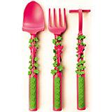 Набор из трех столовых приборов Серия Волшебный сад, Constructive Eating, розовый