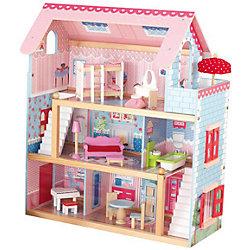 """Кукольный домик """"Открытый коттедж"""" (Chelsea), с мебелью, 19 пр., KidKraft"""