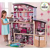 """Большой кукольный дом для Барби """"Сияние"""" (Sparkle Mansion),  с мебелью, 30 пр., KidKraft"""