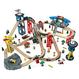 """Многоуровневая железная дорога """"Супер Хайвей"""" (Super Highway Train Set), 85 дет., KidKraft"""