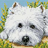 "Алмазная мозаика по номерам ""Собака"" 20х20 см"