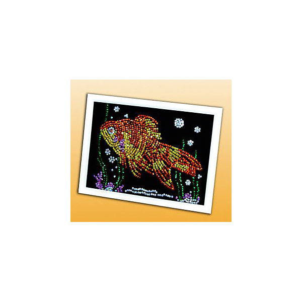 Мозаика из пайеток Золотая рыбка