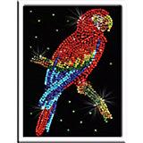 Мозаика из пайеток Попугай какаду