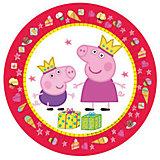 "Тарелка ""Пеппа Принцесса"" 23 см, 6 шт, Свинка Пеппа"