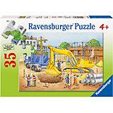 Пазл «Экскаватор», 35 деталей, Ravensburger