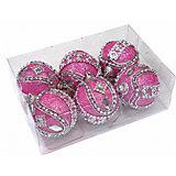 Набор шаров 5 см, 6 шт, розовые, пенопласт