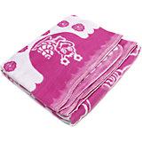 Байковое одеяло 100х118 см., Топотушки, малиновый