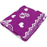 Байковое одеяло 100х118 см., Топотушки, фиолетовый