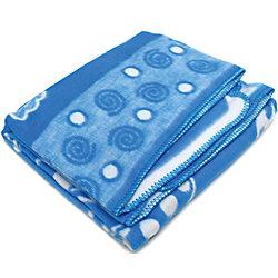 Байковое одеяло 100х118 см., Топотушки, голубой