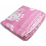 Байковое одеяло 100х118 см., Топотушки, розовый
