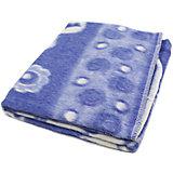 Байковое одеяло 110х118 см. (жаккард), Топотушки, фиолетовый