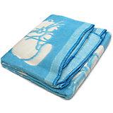 Байковое одеяло 110х118 см. (жаккард), Топотушки, голубой