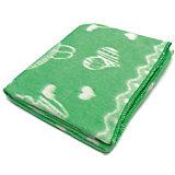 Байковое одеяло 110х118 см. (жаккард), Топотушки, зеленый