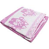 Байковое одеяло 110х118 см. (жаккард), Топотушки, розовый