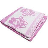 Байковое одеяло х/б 140х100 см., Топотушки, розовый
